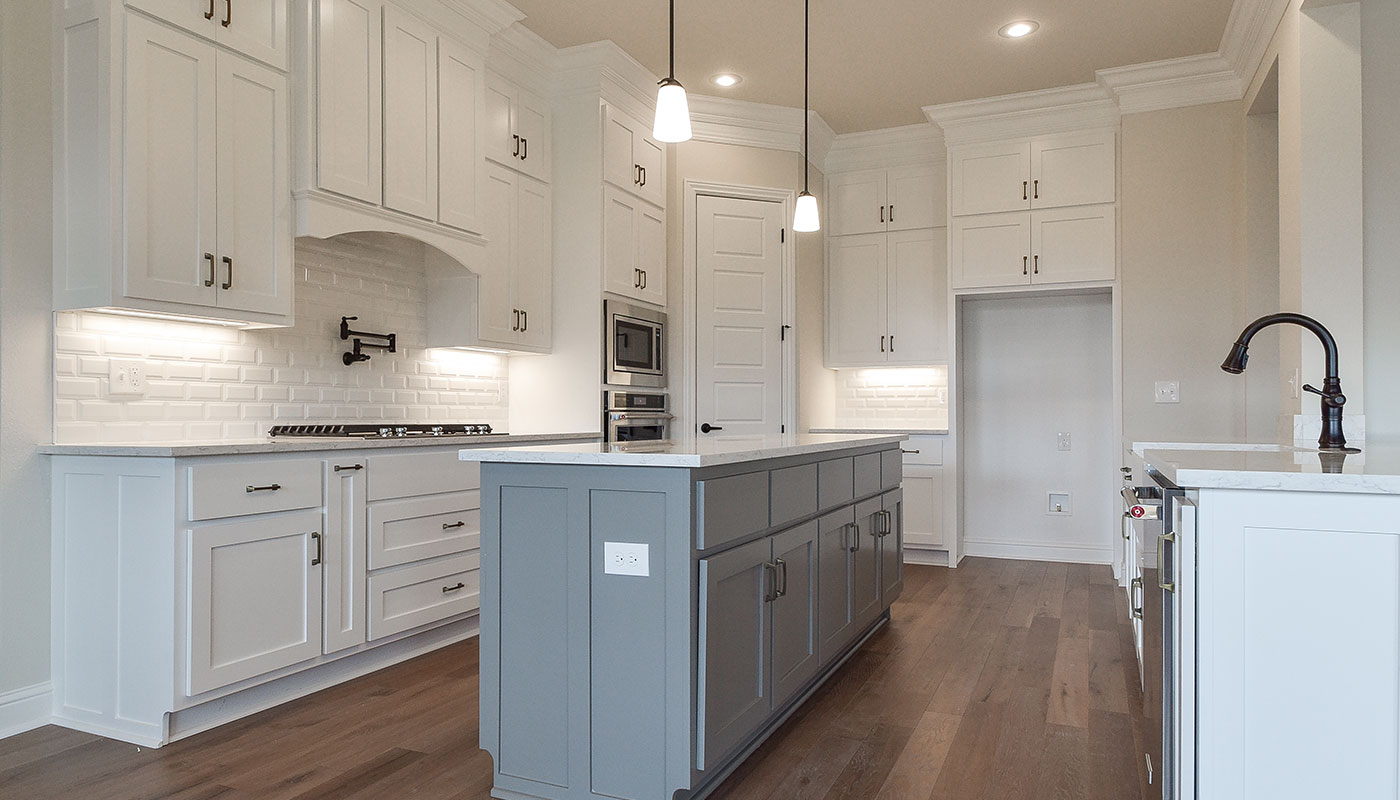 kitchen island in design studio